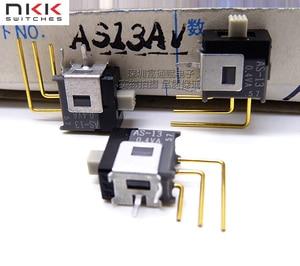 Import Japan NKK Japan open AS13AV vertical foot micro-slide switch 3 feet 3 gear shift switch