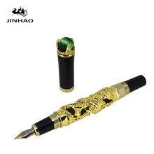 JINHAO altın ejderha kral oyun inci güzel 18KGP NIB dolma kalem siyah/beyaz/gri seçim ofis iş en iyi hediye