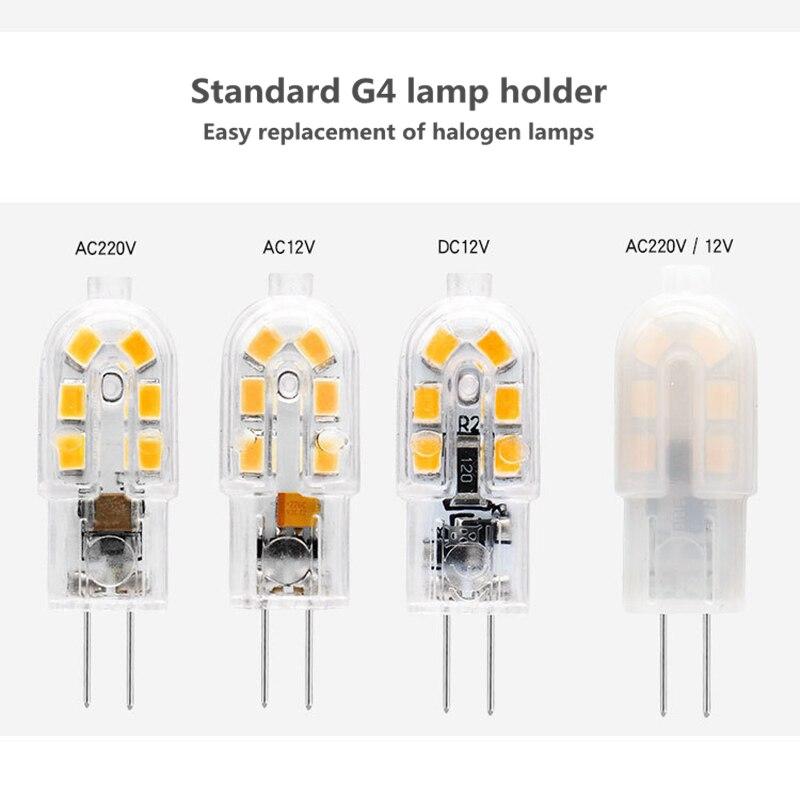 2 uds G4 LED 220V 12LEDs LED G9 lámpara LED Bombilla maíz foco SMD 2835 LED G4 reemplazo de la luz 20W/40W/60W lámpara halógena