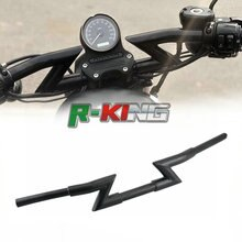 "Negro/cromo 1 ""25mm motocicleta rastreador de hierro manillares barras de arrastre para Harley Softail Dyna Sportster XL 883 1200 Z versión"