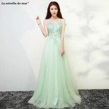 Robe dama dhonneur boda 2020 nouveau tulle cristal dos ouvert ALina menthe vert robe de demoiselle dhonneur longue abiti damigelle