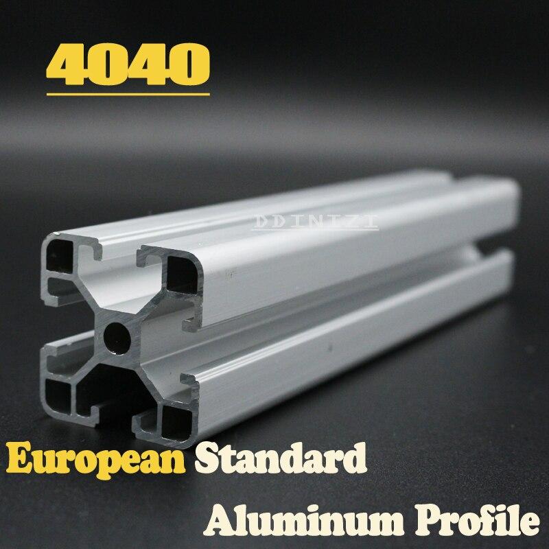 CNC Peças Da Impressora 3D Padrão Europeu Anodizado Linear Rail Perfil De Alumínio Da Extrusão 4040 para DIY impressora 3D 1 pcs