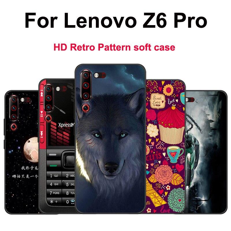 "HD Caso Modelado para Lenovo Z6 Pro Caso Macio TPU para Lenovo Z 6 pro L78051 Z6 Telefone Tampa Traseira pro Z6PRO 6.39 ""bumper Caso fino"