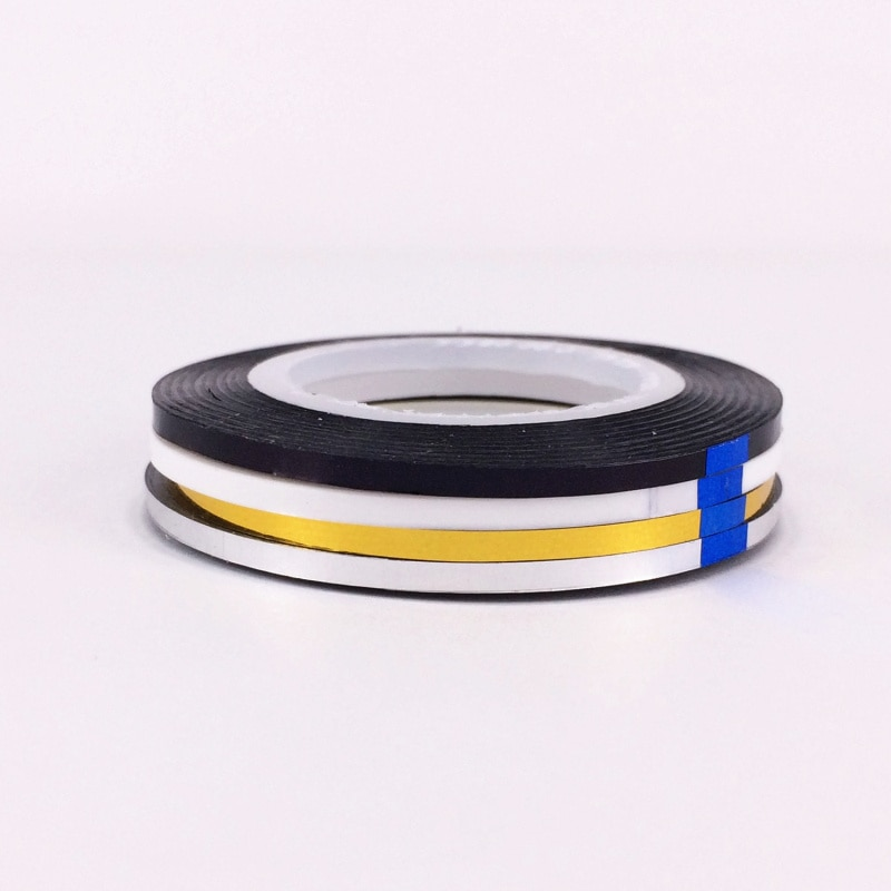 YWK 2mm Nail Striping Tape Line For Nails Decorations Diy Art Self-Adhesive Decal Tools