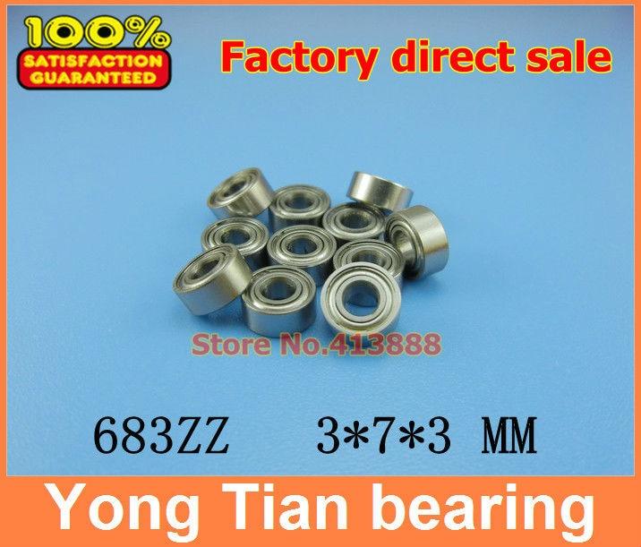 500pcs free shipping thin wall deep groove ball bearing 683ZZ 3*7*3 mm