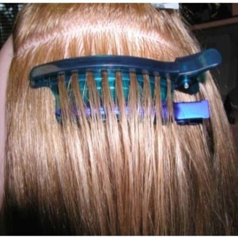 Clips separadores de fácil velocidad Color azul 1 unids/lote Clips seccionadores para extensiones de cabello