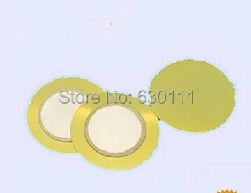 10 unids/lote piezoelemento cerámico 35mm (cobre) Zumbador