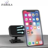 Univerola מגנטי טלפון מחזיק רכב עבור iPhone X 7 סמסונג S10 S9 עבור מגנט מחזיק 3M דבק כיסוי לוח מחוונים הר בעל