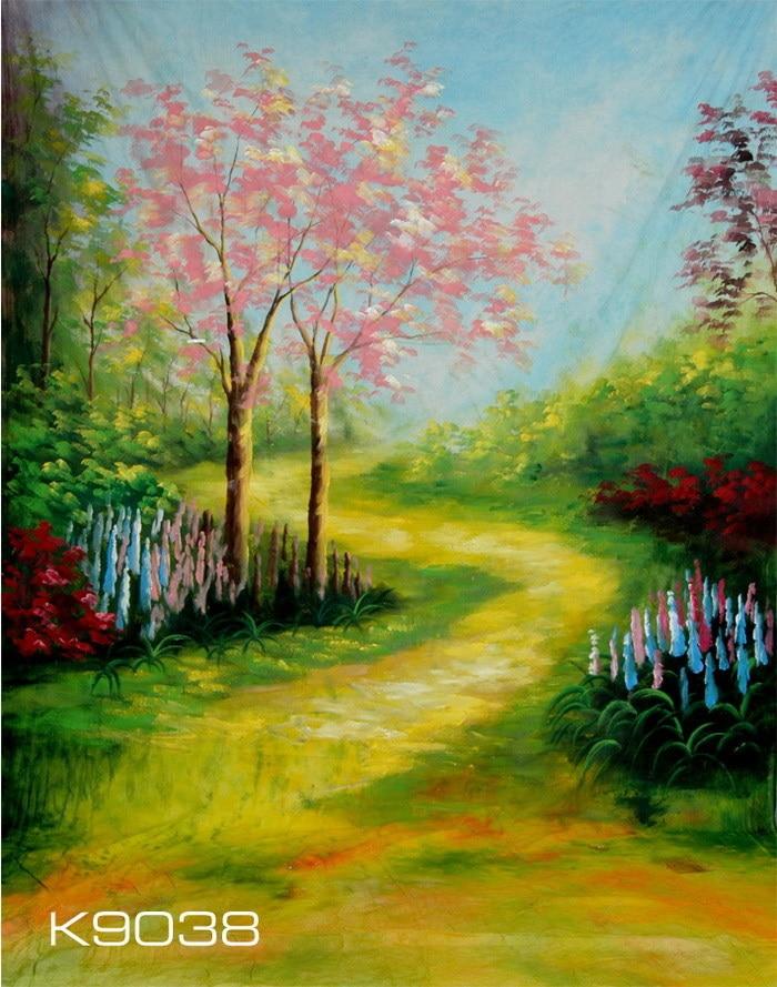 Pintado Mão Muslin Foto Backdrops Fundo Fotografia K9038 Fotografie Achtergronden Scenic 3 * 4 m