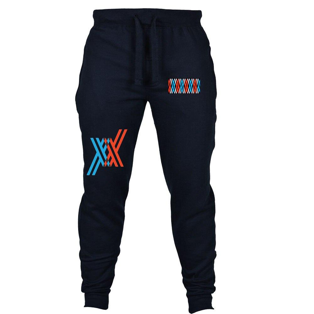 Anime QUERIDO no FRANXX calças Sweatpants Jogging Casual homens mulheres cosplay roupas Calça Esporte Longos