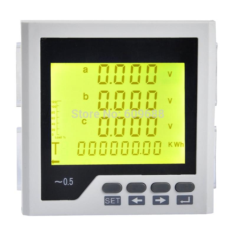 Digital Three-phase LCD Multifunction Power Meter Digital Network Instrument
