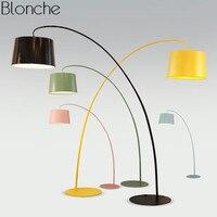 Creative Fishing Floor Lamp Modern LED Switch Standing Lamp for Living Room Bedroom Home Atmosphere Decor Macaron Light Fixtures