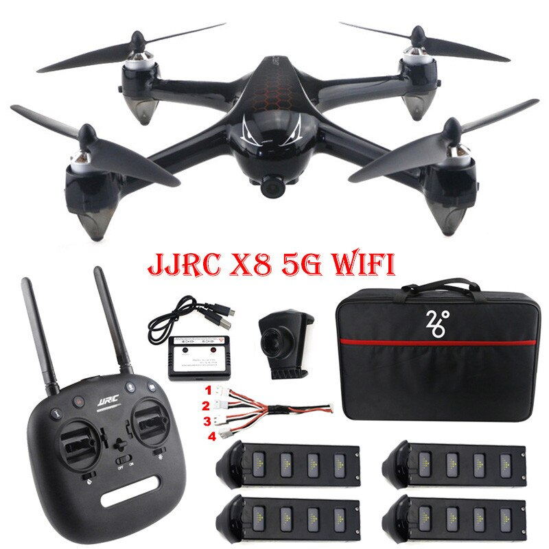 JJRC X8 5G WiFi FPV Drone RC Drone GPS posicionamiento altitud 1080P Cámara Motor sin escobillas WiFi APP Control RC Quadcopter Juguetes