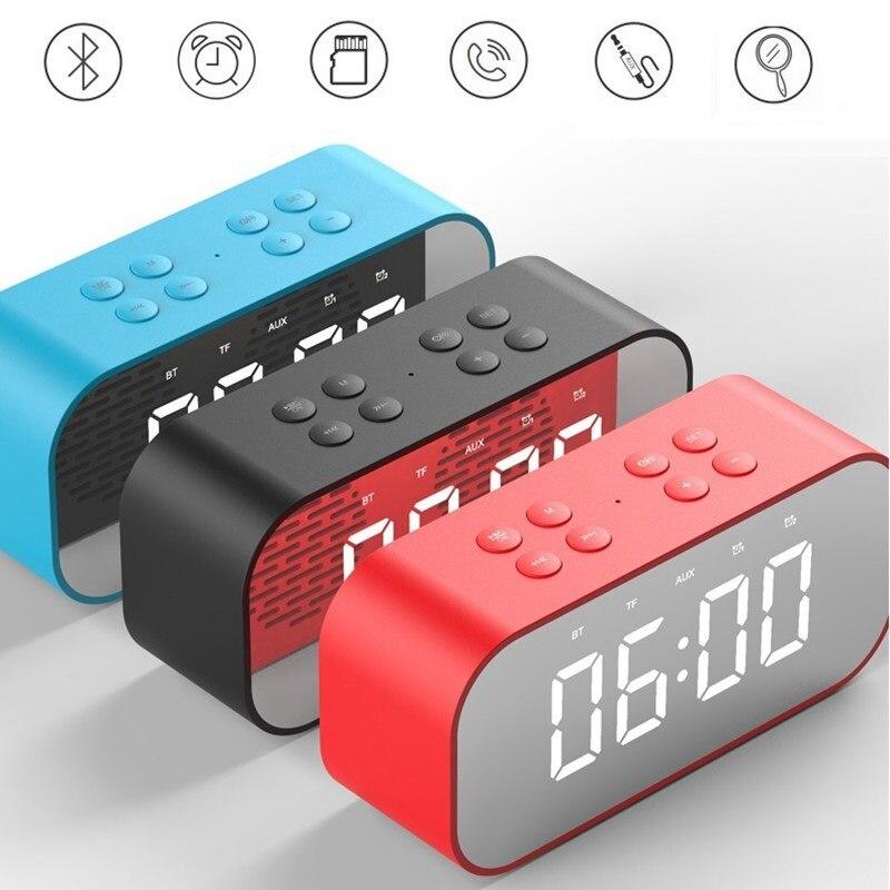 BT501 LED Будильник Bluetooth беспроводной динамик мини зеркало с экраном часы подарок карта бас маленький стерео
