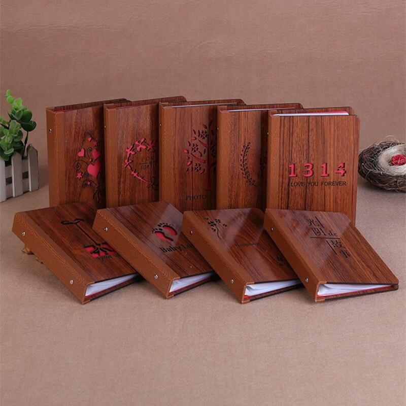 Álbum de madera de 6 pulgadas DIY, hoja negra intersticial hecha a mano, temática de amor para niños, álbum de recortes, álbum de fotos bonito, regalo de aniversario de boda