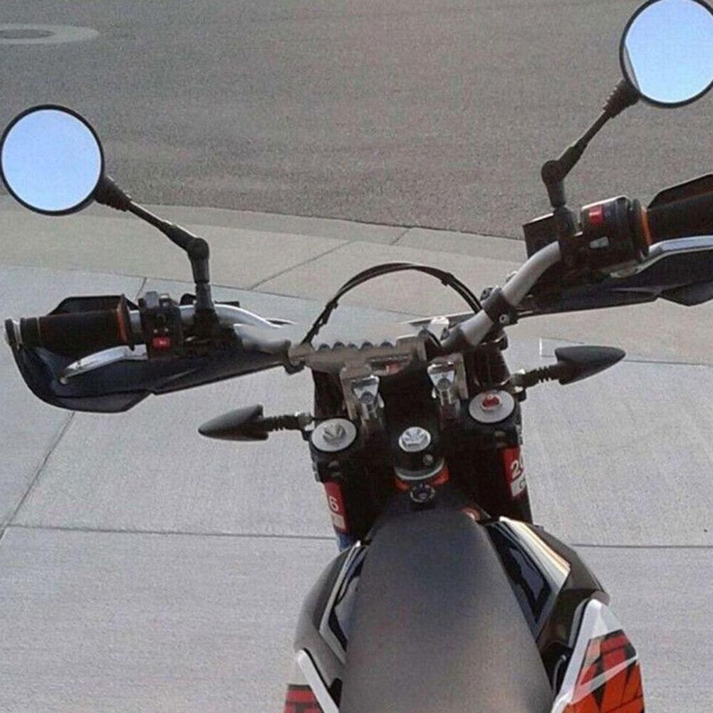 1 par plegable redondo motocicleta lateral espejo retrovisor motocicleta Durable autoparte