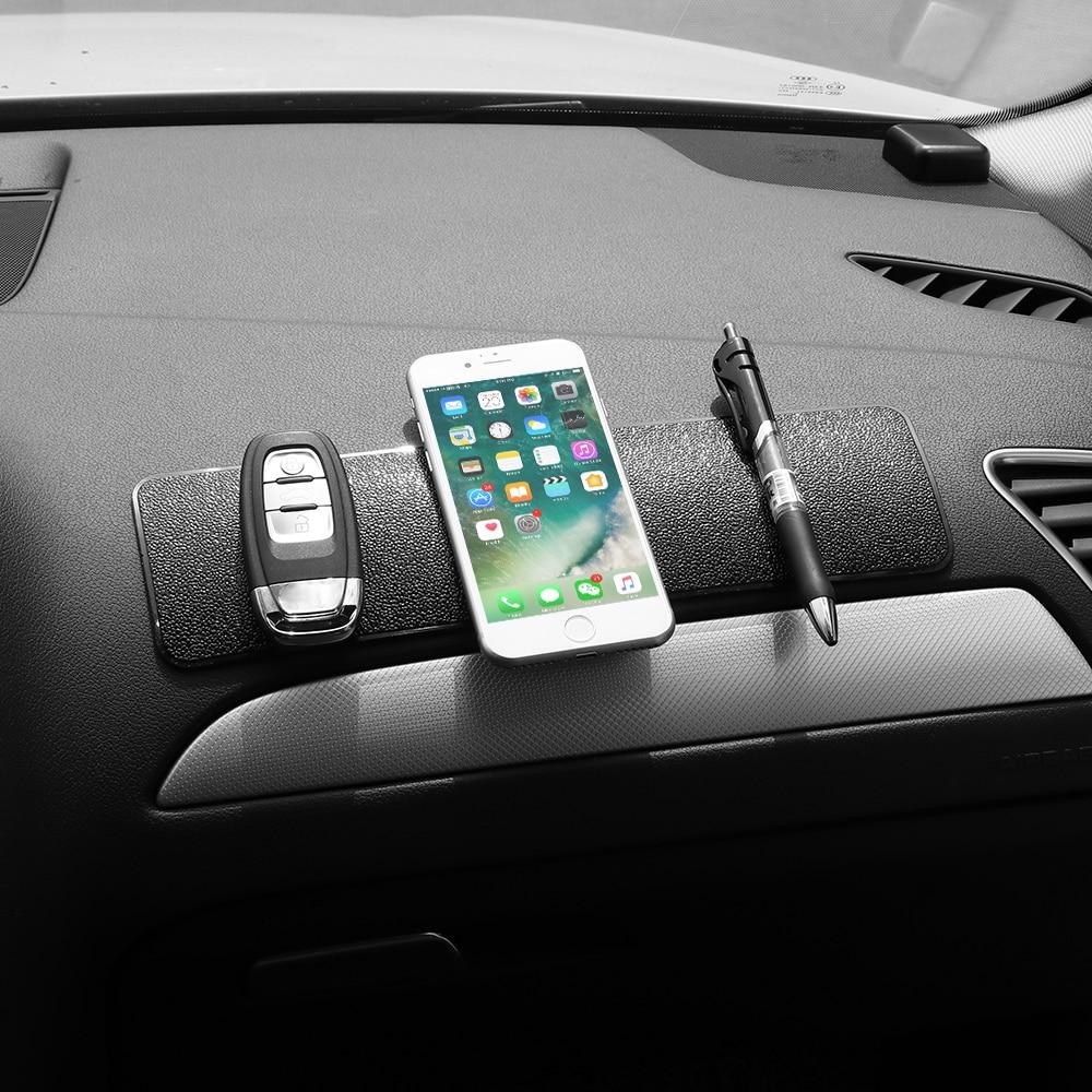 Grande Longo Painel Do Carro Almofada Pegajosa Anti-Slip Mat Magia Gel Anti-slip Mat Para O Telefone GPS Chave Titular Tablet Carro-styling PU couro