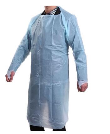 Disposable CPE plastic Apron Waterproof long sleeve apron Surgical  apron 20 piece