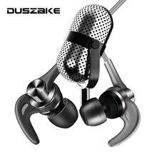 Металлические басовые наушники DUSZAKE для телефона, наушники вкладыши 3,5 мм для телефона, проводные стереонаушники с басами и микрофоном для Samsung, Xiaomi
