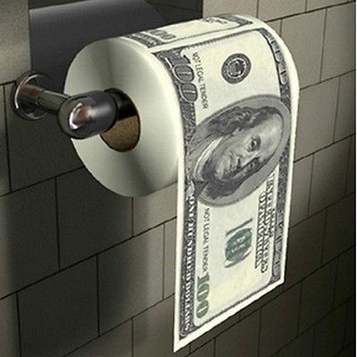 US Money мягкое полотенце для туалетной бумаги рулон ванной денег одежда