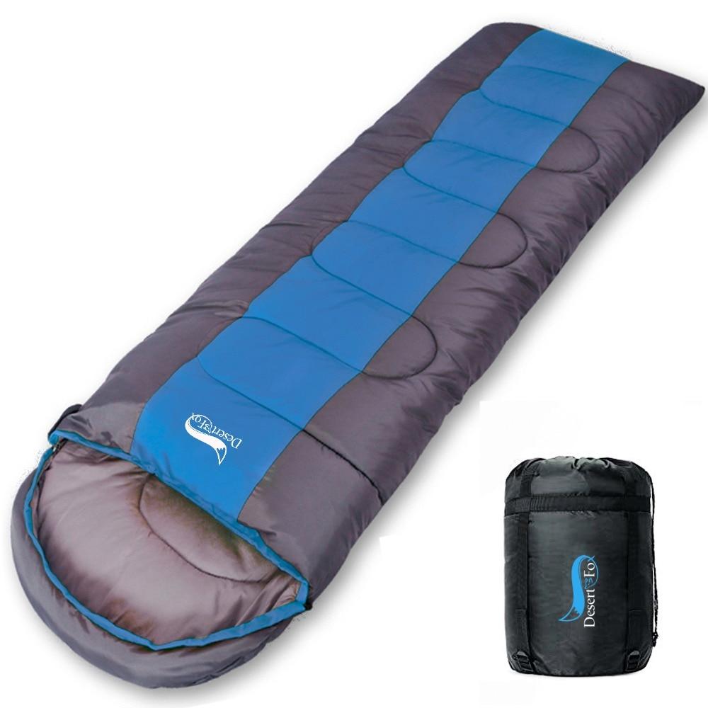 Desert & Fox-كيس نوم للتخييم ، خفيف الوزن ، 4 مواسم ، غلاف دافئ وبارد ، حقيبة ظهر للسفر والمشي لمسافات طويلة في الهواء الطلق