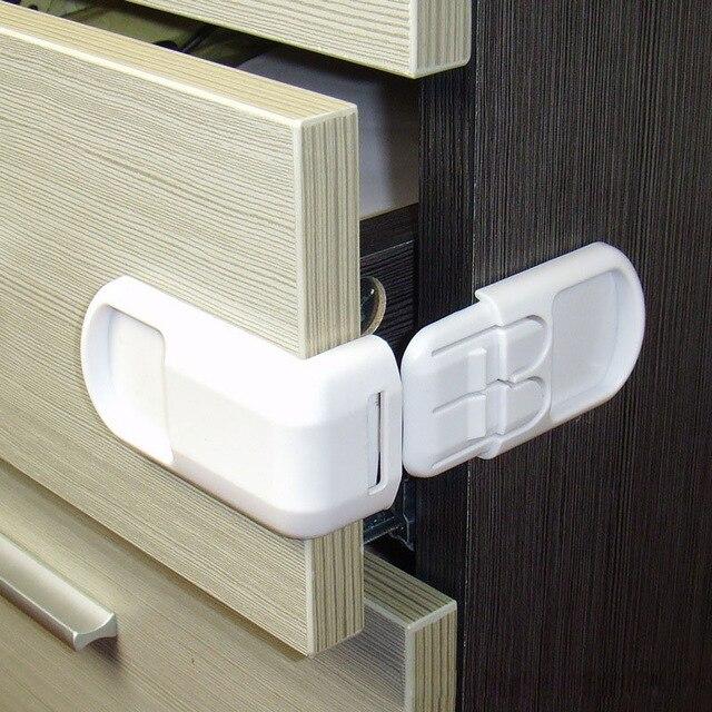 20 pièces/lot enfant serrure bébé tiroir serrure de sécurité pratique fonctionnel enfants porte réfrigérateur serrure de sécurité toilette placard serrure en plastique