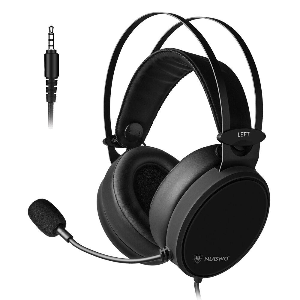 NUBWO N7 3,5mm auriculares para juegos graves profundos en la oreja auricular con micrófono para PS4 nuevo Xbox One PC teléfono inteligente