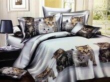 White Cat 2/3/4pcs Bedding Sets Children's Beddingset Bed Linen Duvet Cover Bed Sheet Pillowcase/bed Set