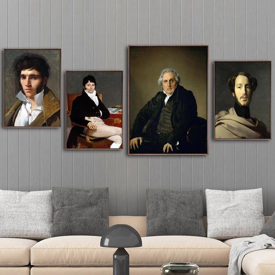 Impresión para decoración del hogar lienzo arte póster de cuadros de pared lienzo impresiones pinturas francés Jean-Auguste-Dominque ingres
