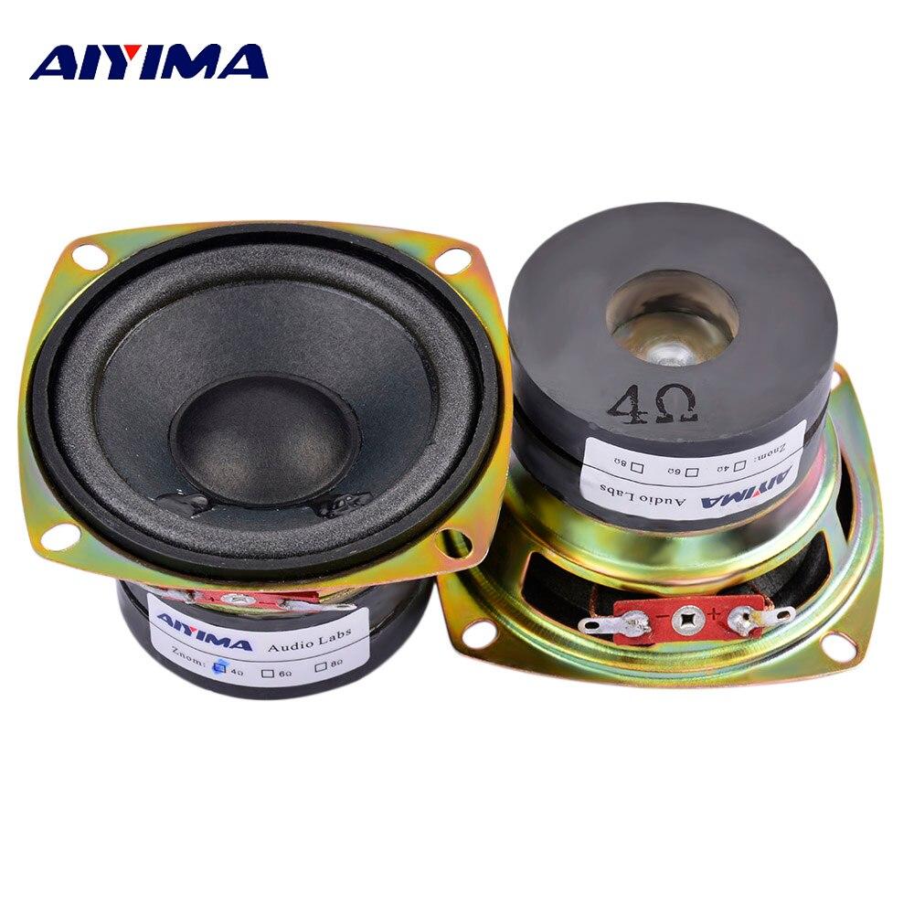 AIYIMA 2 uds 3 pulgadas de Audio portátil Altavoz 4Ohm 10W gama...