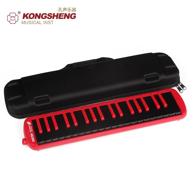 KONGSHENG 37 مفتاح ميلوديكا لوحة مفاتيح F-37S عالية الجودة للتعليم (مع حقيبة حمل) أسود أحمر أزرق آلات موسيقية