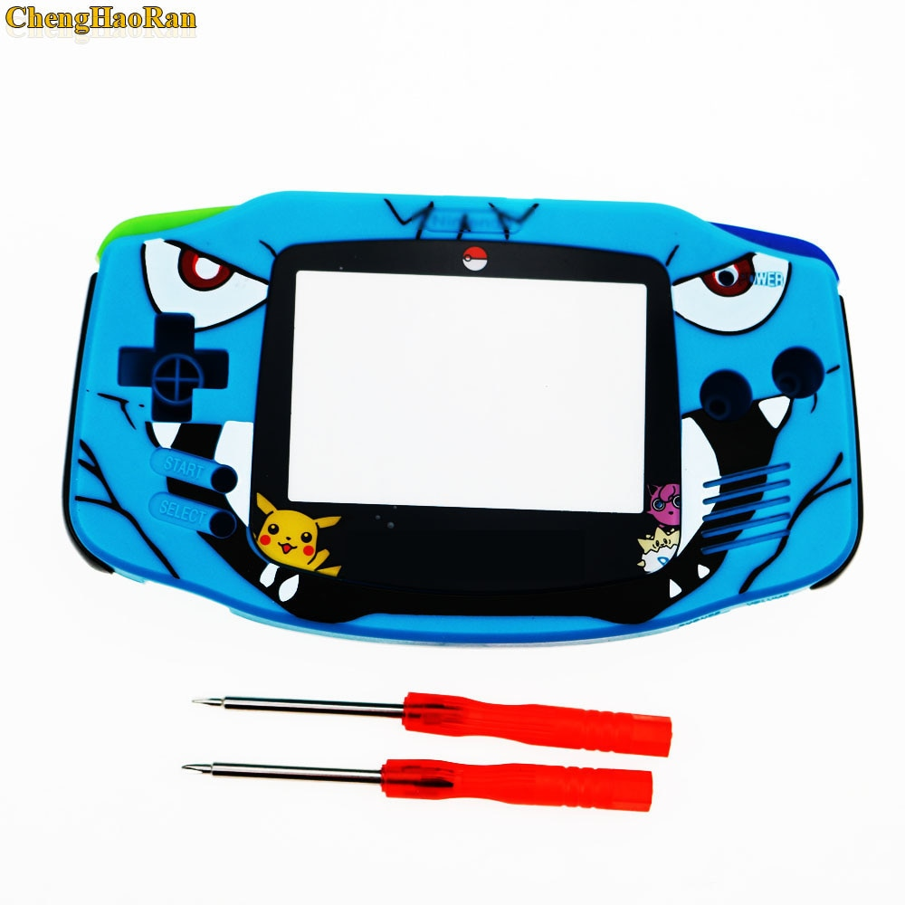 for nintendo ds console plastic replacement housing shell cover Cartoon Limited Edition Full Housing Shell replacement for Nintendo Gameboy Advance for GBA Game Console Cover Case Repair parts