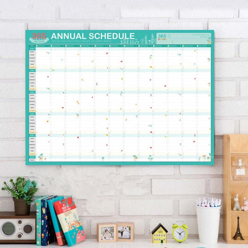 Calendario de Agenda anual, planificador de Agenda, suministros de oficina escolar, calendario de aprendizaje, planificador de trabajo, aviso de mesa