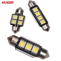 10pcs 31mm 36mm 39mm 41mm c5w 3 smd 5050 led canbus festoon bulb car licence plate light auto housing interior dome lamp 12v