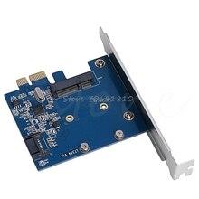 PCI-E PCIe к mSATA SSD и SATA 3,0 комбинированный расширитель адаптер карта 6,0 Гбит/с оптовая продажа и Прямая поставка
