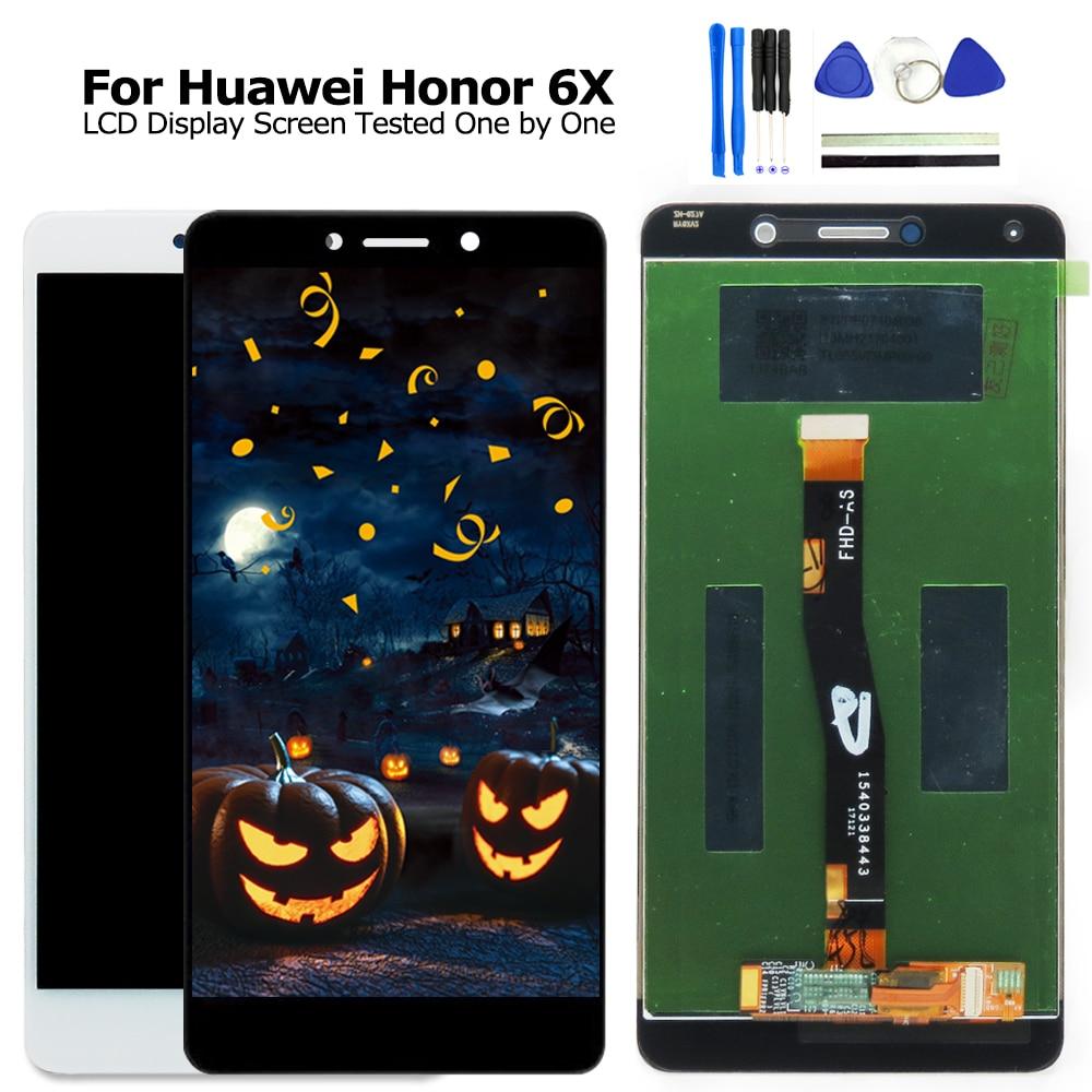 Para Huawei Honor 6X LCD pantalla táctil con marco para Huawei GR5 2017 pantalla Huawei Honor 6X pantalla BLN-L21