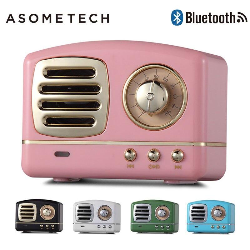 Altavoces portátiles encantadores, Mini Altavoz Bluetooth inalámbrico Retro, Radio FM, barra de sonido USB, Subwoofer de graves para teléfono, PC, ordenador portátil