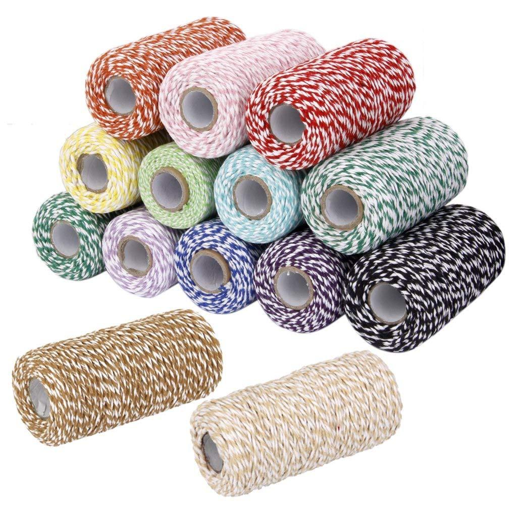 Cordel de algodón de 100M para cocina, cordel de papel de regalo, cuerda de algodón, cordel de algodón perfecto para hornear, carniceros, artesanías y Navidad Gi
