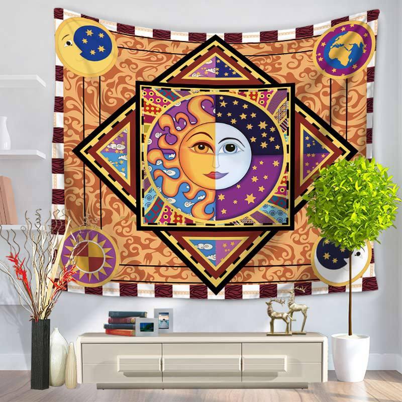 Tapices bohemios de Mandala hippie de Sun Apolo, decoración India para dormitorio, tapiz psicodélico decorativo étnico para colgar en la pared 200x150cm