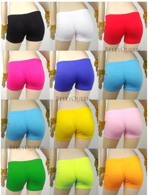 DHL 50 piezas mujeres danza del vientre traje algodón caramelo color gimnasio deporte fitness corto