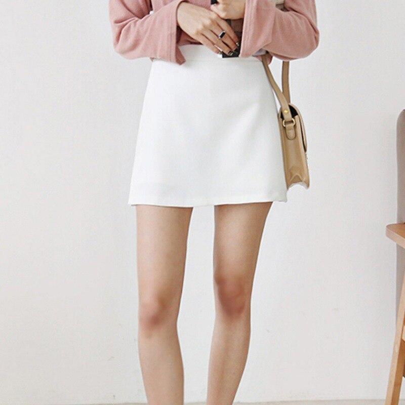 Sommer Mode Rock Shorts Gefälschte Zwei-stück Split Hosen Hohe Taille Zip Feste Farbe Rock frauen Shorts vadim harajuku
