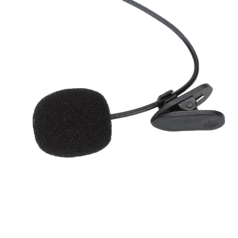 Micrófono con conector de 3,5mm Lavalier, accesorio de solapa con enganche, para...