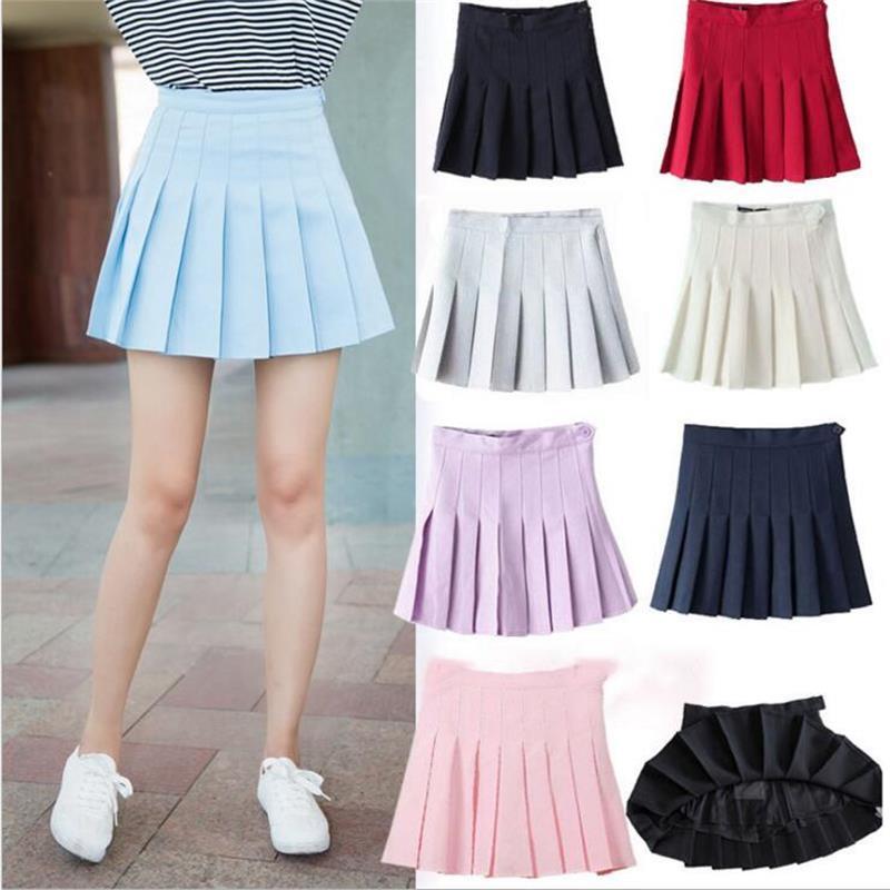 Women's Skirts Ladies Punk Kawaii Ulzzang Academy Aa High Waist Pleated Skirt New Style Female Korean Harajuku Cloth For Women
