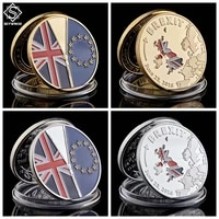 june 23 2016 uk brexit eu referendum independence silver coin collection with protection capsule