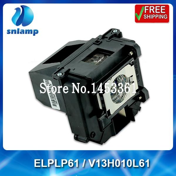 100% lampe originale Snlamp Remplacement ELPLP61 V13H010L61 pour EB-915W EB-925 EB-925 EB-910W EB-915W EB-D6150 EB-D430 EB-D435W