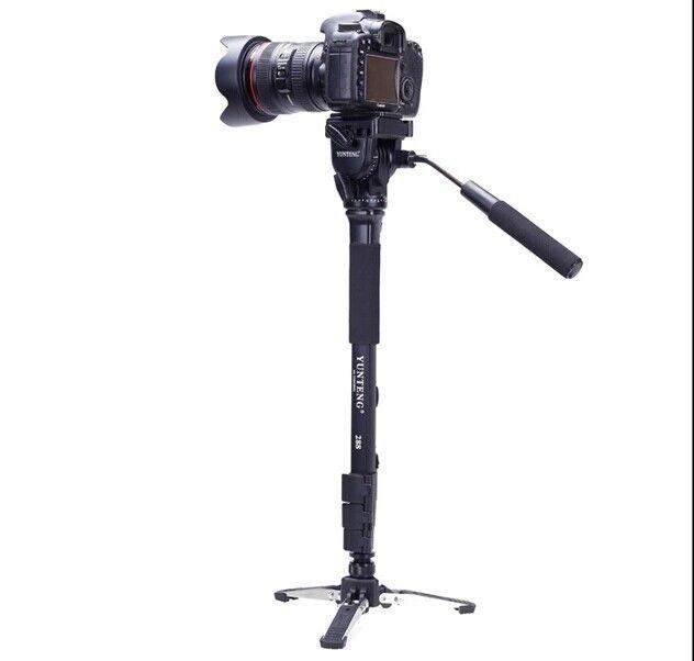 Yunteng VCT 288 Photography Camera DV VCR Tripod Monopod Fluid Pan Head Unipod Holder phone clip
