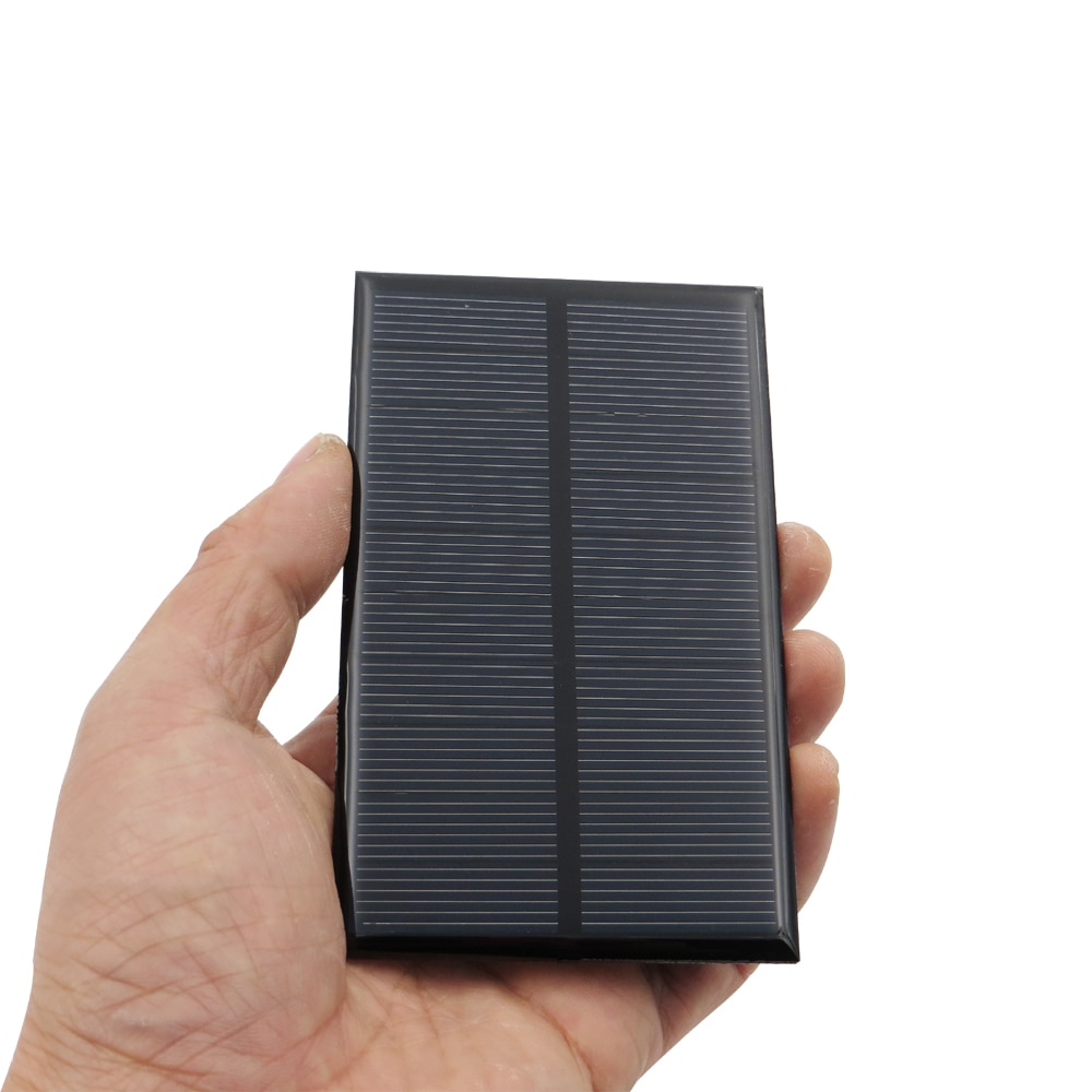 Painéis solares 5 v 1.25 watt 0.25a módulo policristalino da cola epoxy do silicone para carregar a bateria do telefone celular atacado
