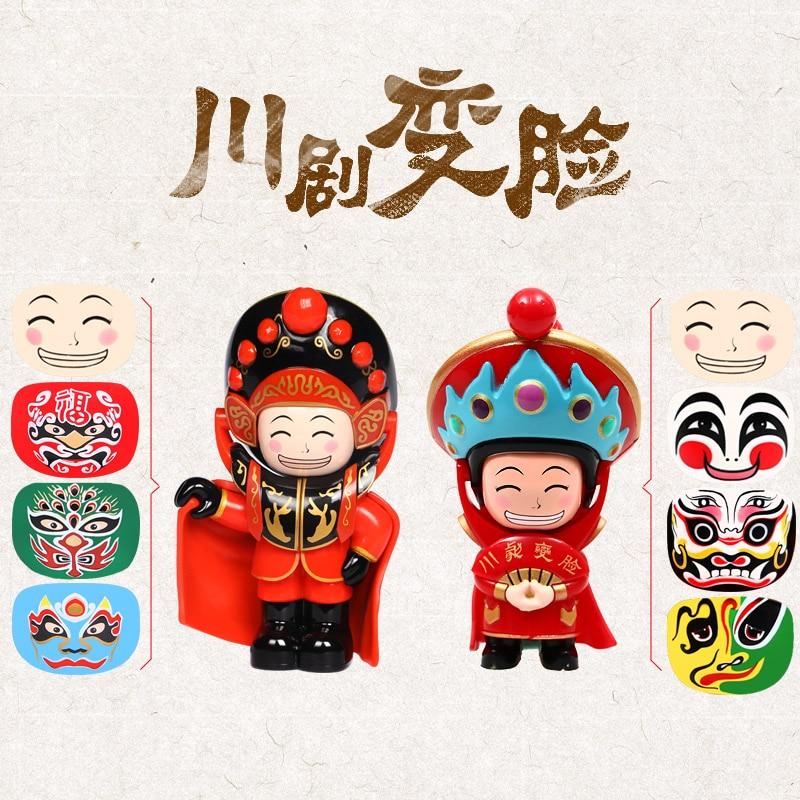 Меняющая лицо кукла Сичуань оперные куклы Сычуань креативные игрушки Чэнду сувениры китайские Характеристики подарок для отправки