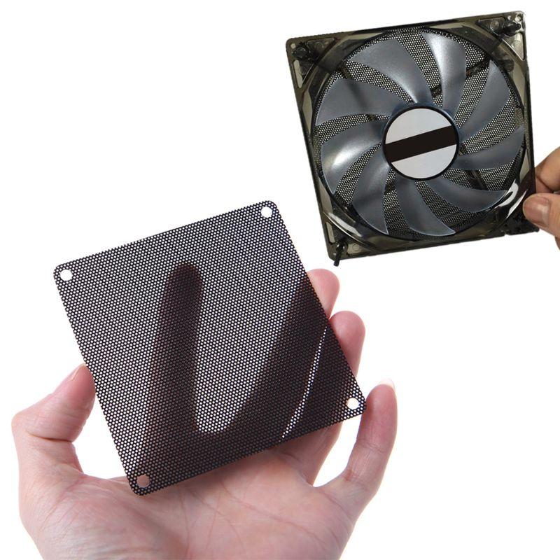 10PCS 120MM PVC Fan Staub Filter PC Staubdicht Fall Cuttable Computer Mesh Abdeckung Schwarz