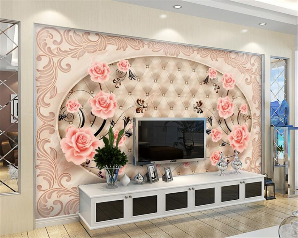 Beibehang, papel de empapelar 3D de azulejos, Parquet con relieve de mármol, Fondo de TV, pared, sala de estar, dormitorio, TV, bolsa suave de papel tapiz para paredes, 3 d